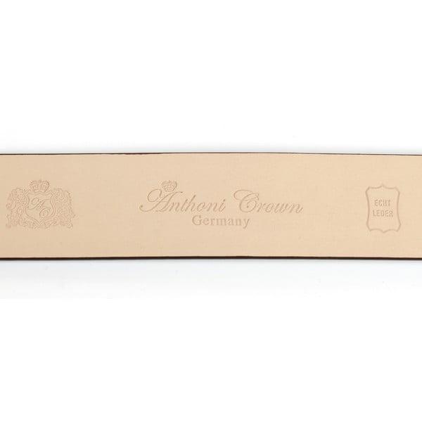 Pánsky kožený opasok 37SN40S Brown, 100 cm