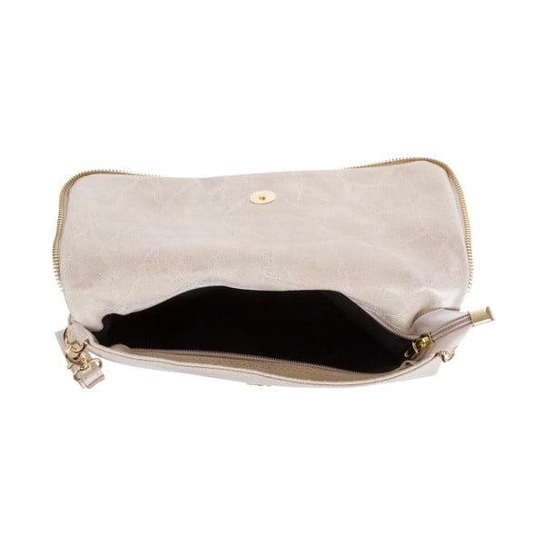 Béžová kabelka z pravej kože Andrea Cardone Fiore
