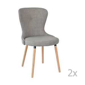 Sada 2 sivých stoličiek RGE