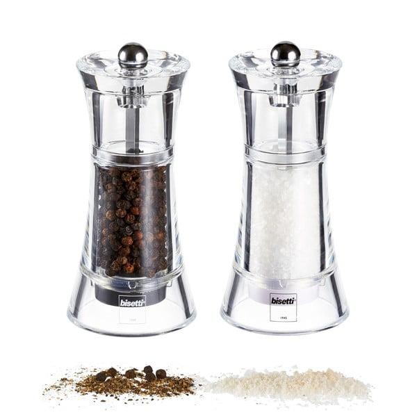 Sada 2 mlynčekov na soľ a korenie Pepper&Salt, 13 cm