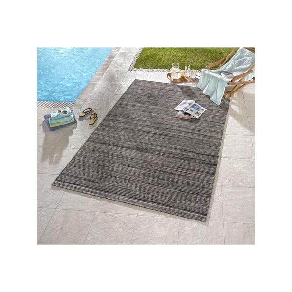 Sivý koberec vhodný aj do exteriéru Lotus, 120×170cm