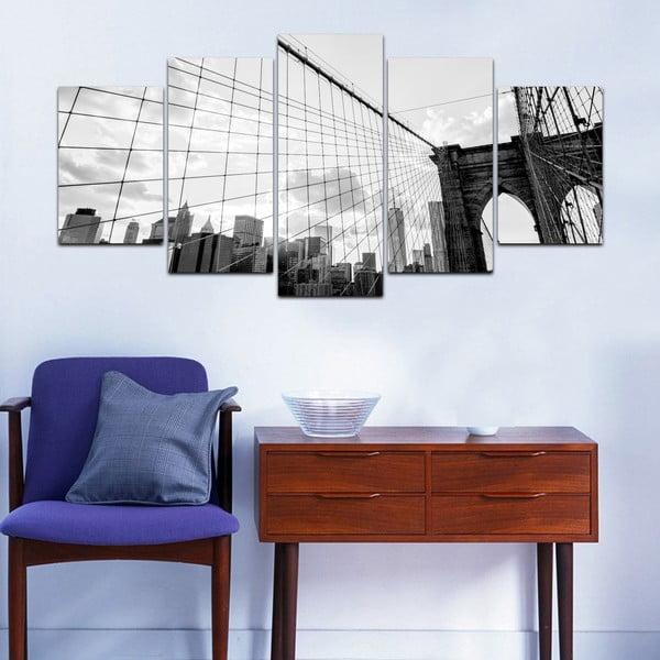 Viacdielny obraz Black&White no. 85, 100x50 cm