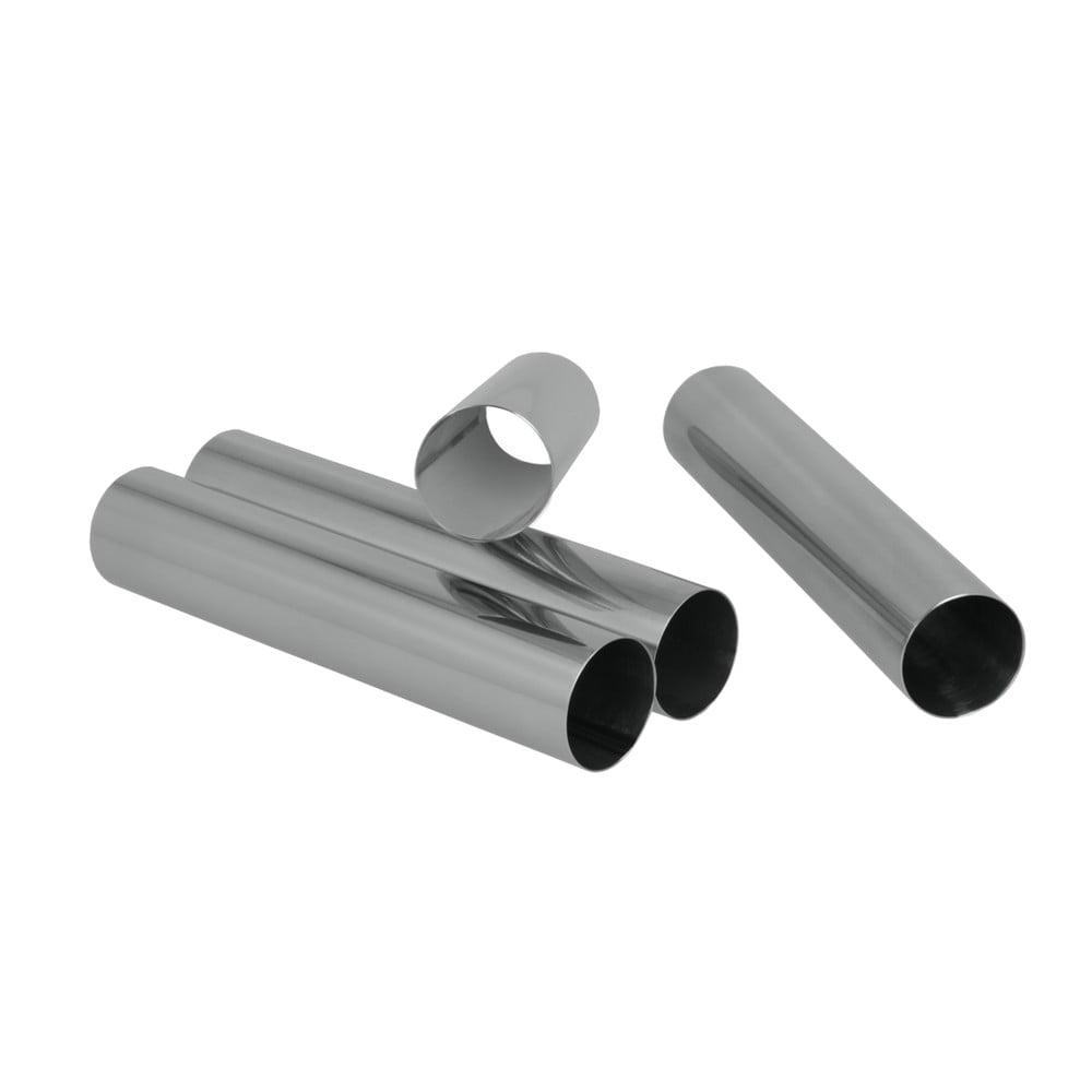 Sada 4 ks kovových ruličiek na rúrky Metaltex, dĺžka 12,5 cm