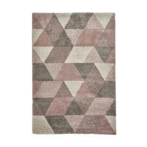 Krémovo-ružový koberec Think Rugs Royal Nomadic, 120 x 170 cm