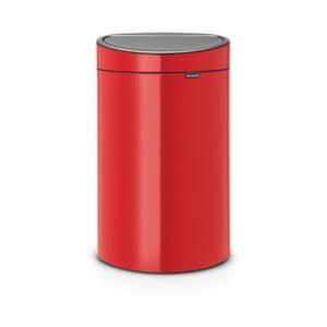 Červený odpadkový kôš Brabantia Touch Bin, 40 l