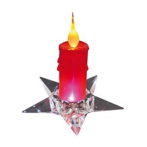 Červená dekoratívna sviečka na podstavci Naeve, výška 16 cm