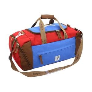Modro-červená taška na rameno Friedrich Lederwaren Star