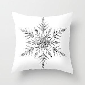 Obliečka na vankúš Snowflake White, 45x45 cm