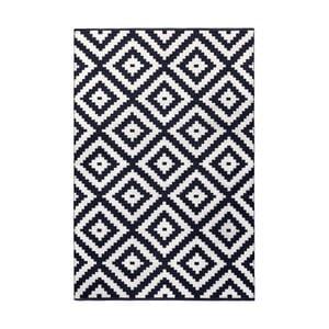 Tmavomodro-sivý obojstranný koberec vhodný aj do exteriéru Green Decore Ava Malo, 140 × 200 cm