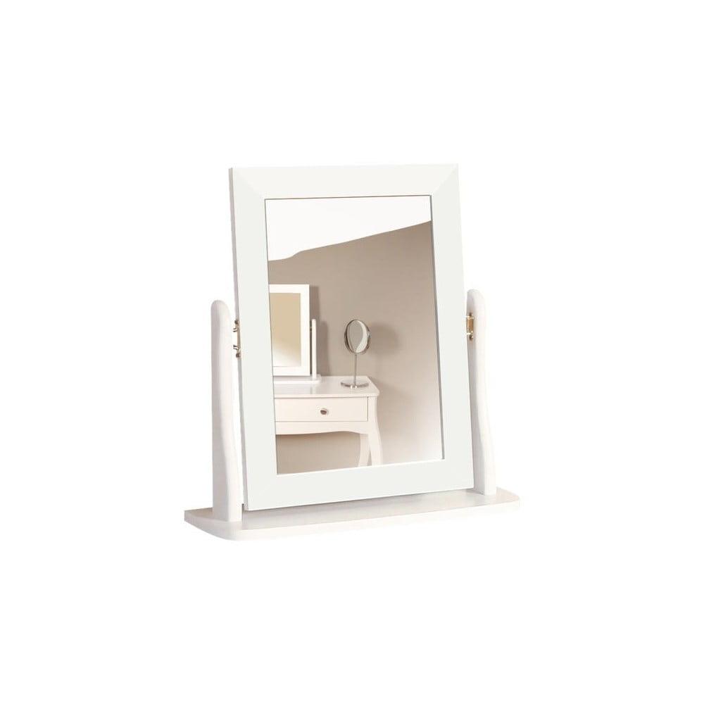Biele kozmetické zrkadlo k toaletnému stolíku Steens Baroque