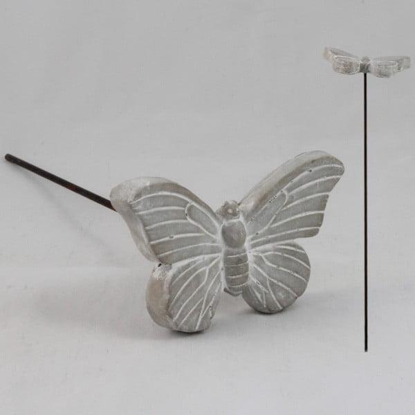 Betónová zapichovacia dekorácia Butterfly