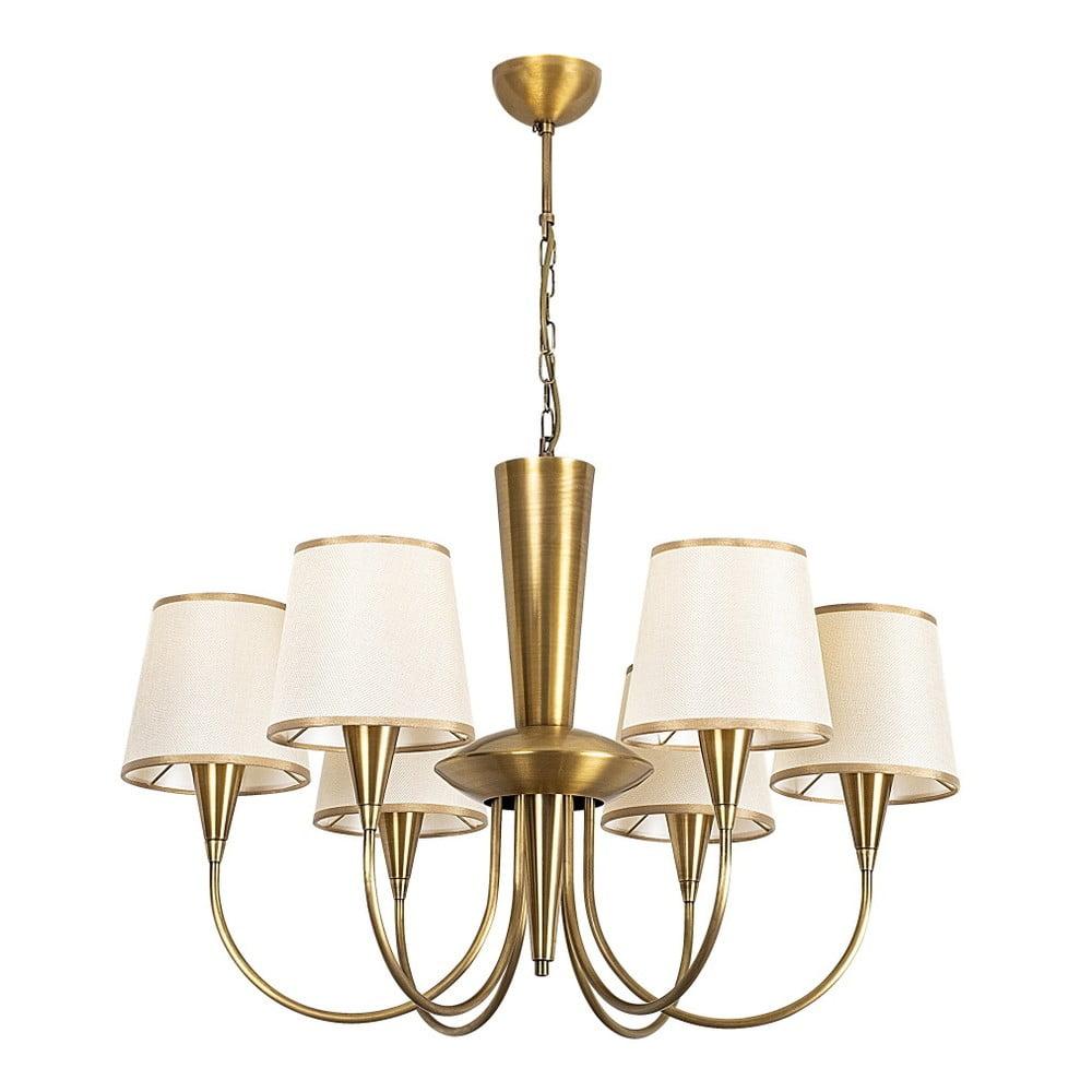 Kovové závesné svietidlo v zlatej farbe Opviq lights Pantelis