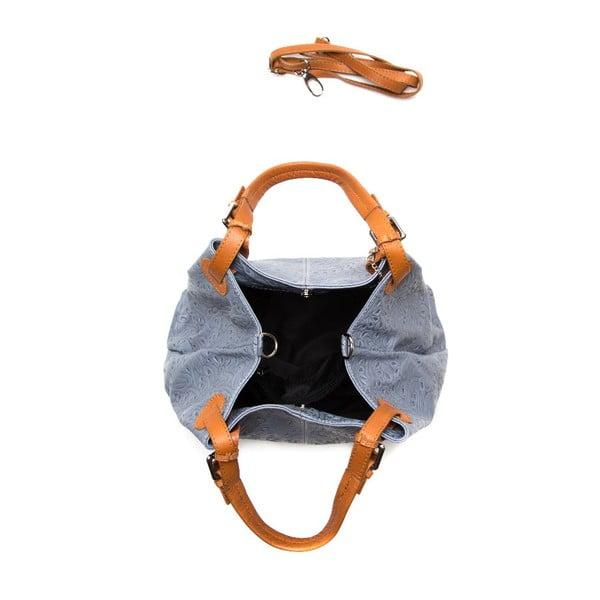 Kožená kabelka Anna Luchini 2121 Grigio