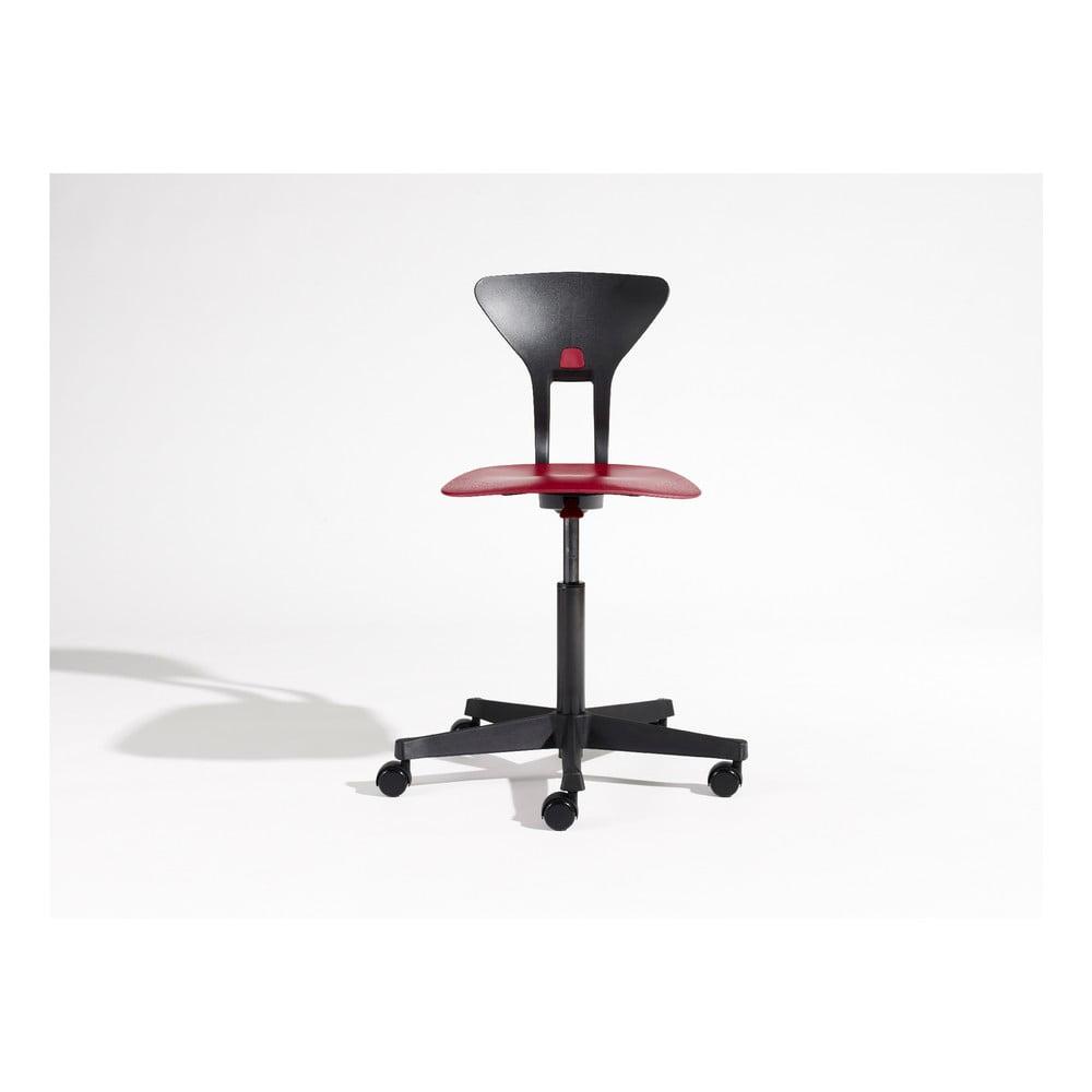 Sivo-červená detská otočná stolička na kolieskach Flexa Ray