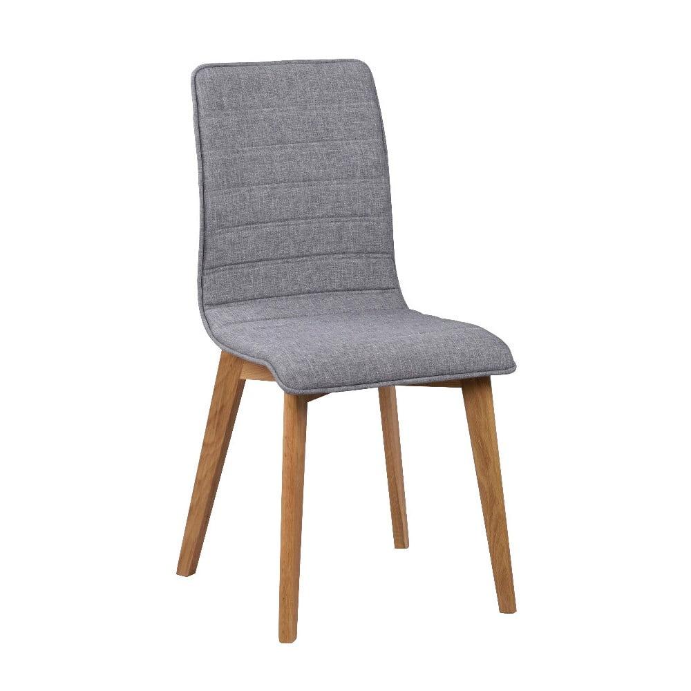 Sivá jedálenská stolička s hnedými nohami Folke Grace