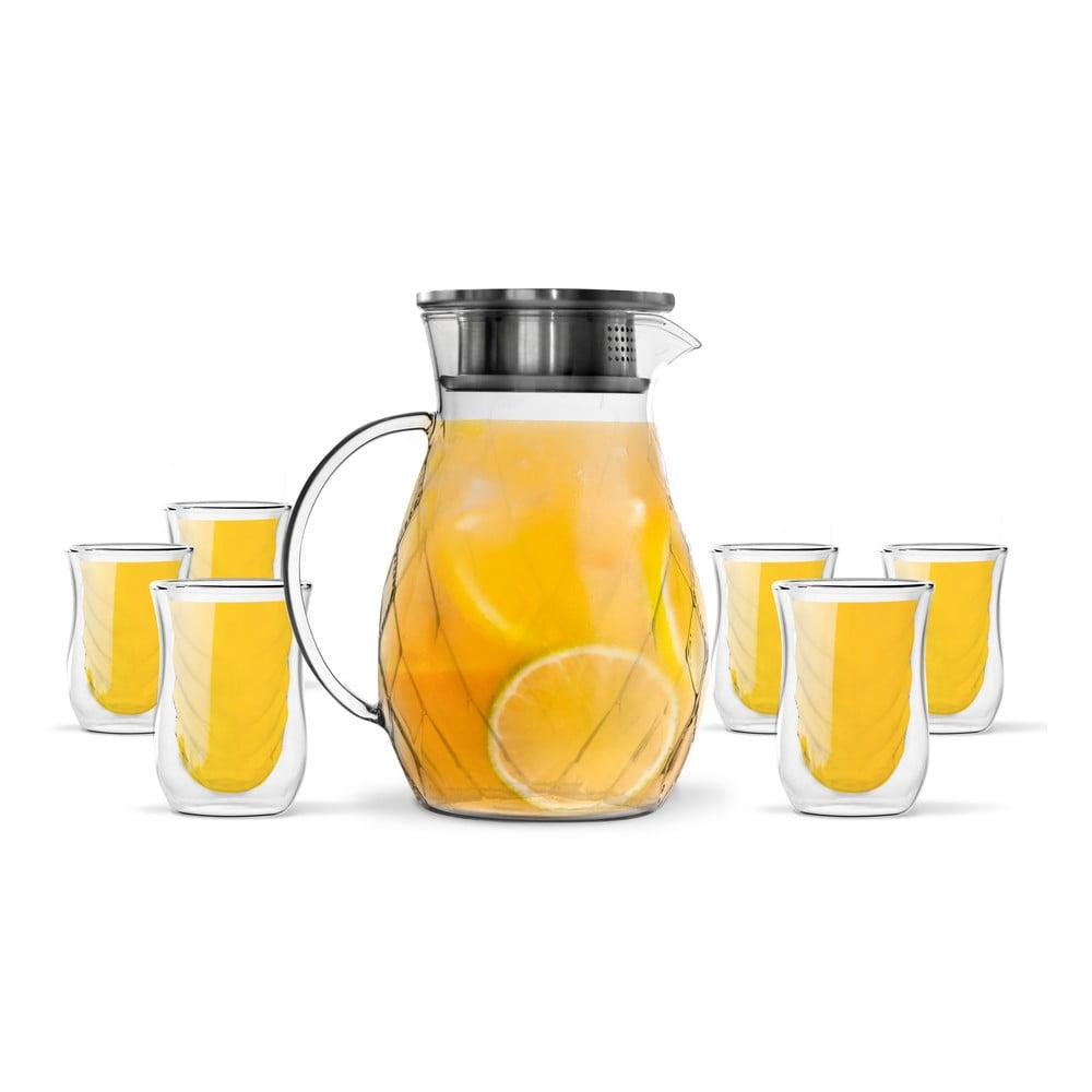 Sada 6 dvojitých pohárov a džbánu Vialli Design Peter