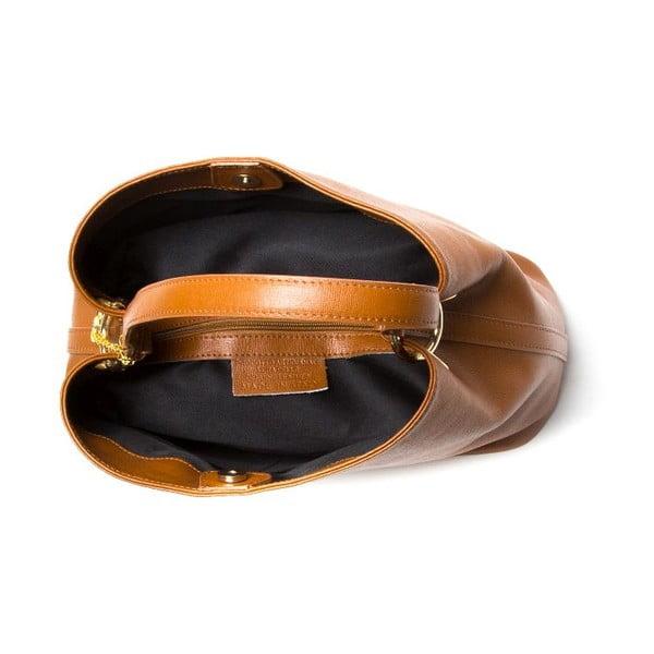 Kožená kabelka Vittoria, koňak
