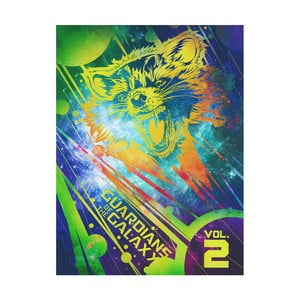 Obraz Pyramid International Guardians Of The Galaxy Vol 2 Rocket, 60 × 80 cm