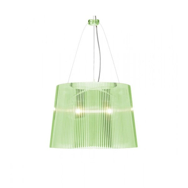 Zelené transparentné stropné svietidlo Kartell Gé