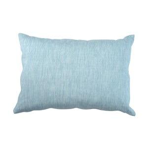Modrý vankúš Walra Karla, 40×60 cm