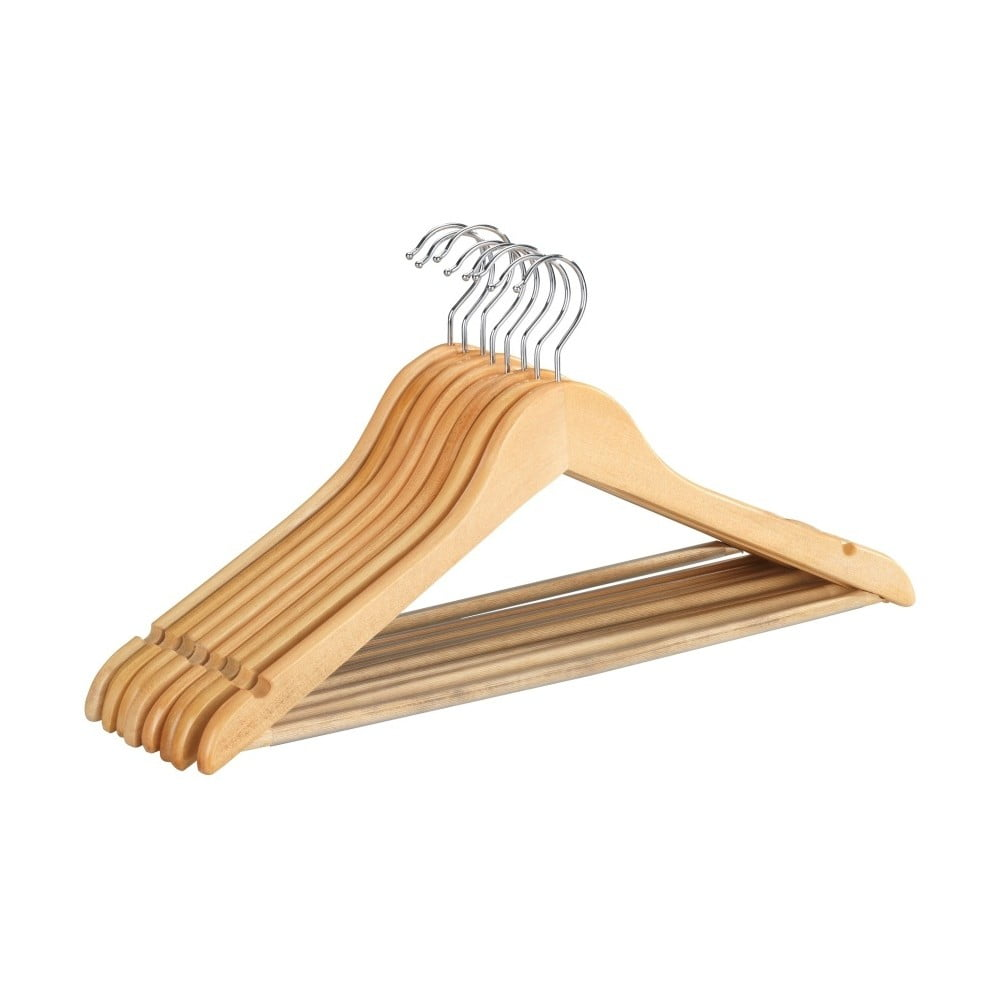 Sada 8 drevených vešiakov na oblečenie Wenko Shaped Hanger Eco