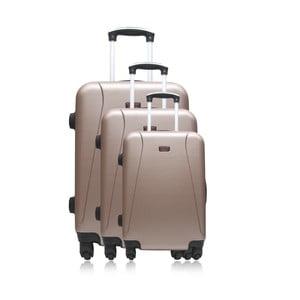 Sada 3 Svetlohnedých cestovných kufrov na kolieskach Hero Jackson