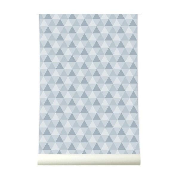 Tapeta Triangles Grey
