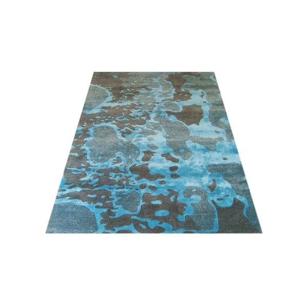 Ručne tkaný koberec Disco, 153x244 cm, modrý