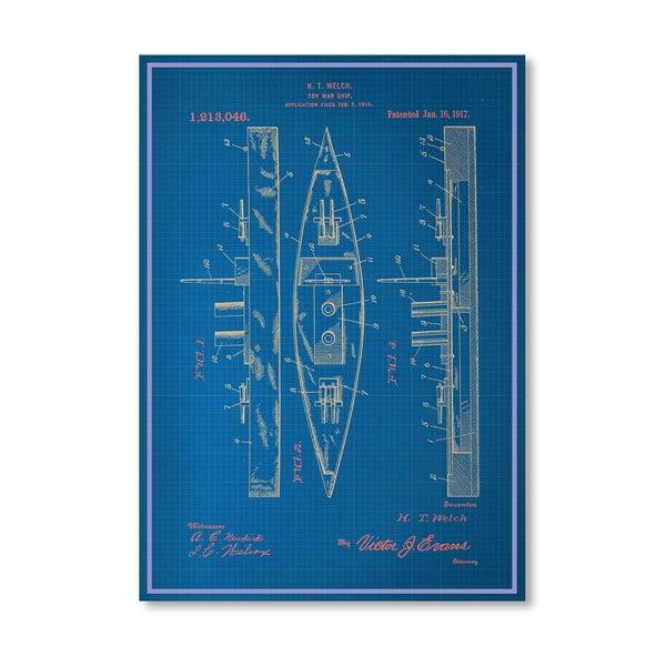 Plagát Toy Warship, 30x42 cm