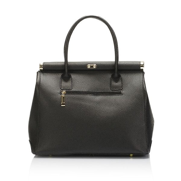 Čierna kožená kabelka Giulia Massari Novara