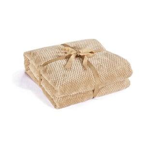 Béžová deka z mikrovlákna DecoKing Henry, 70×150cm