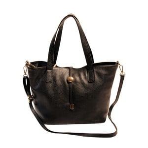 Čierna kabelka z pravej kože Andrea Cardone Matteo