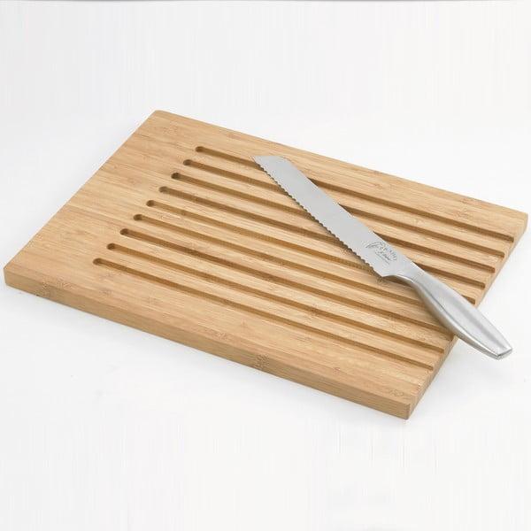 Nôž a doštička na pečivo Jean Dubost Bamboo
