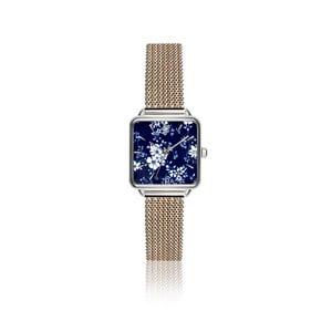 Dámske hodinky s remienkom z antikoro ocele v striebornej farbe Emily Westwood Square Melange
