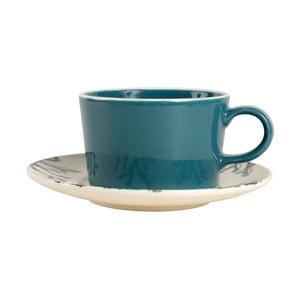 Modrá šálka na cappuccino s tanierikom Côté Table Pair, 250ml