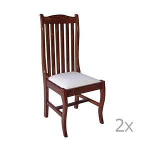 Sada 2 jedálenských stoličiek z palisandrového dreva Massive Home Lina