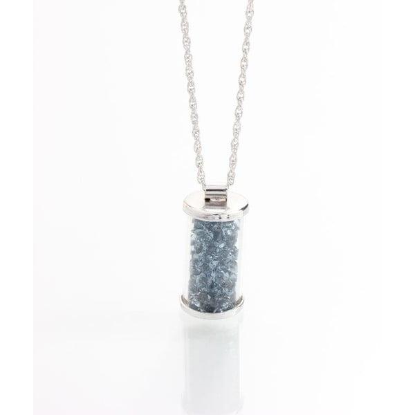 Sivý náhrdelník so Swarovski krištáľmi Yasmine Ampule