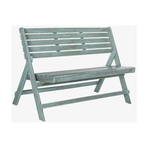 Modrá záhradná skladacia lavica z akáciového dreva Safavieh Ferrat Safavieh Ferrat