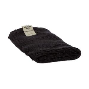 Čierny uterák z eko bavlny Iris Hantverk, 45 x 50 cm