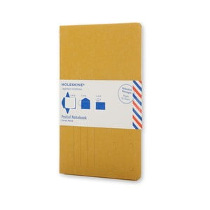 Žltý zápisník v obálkovej väzbe Moleskine Postal P