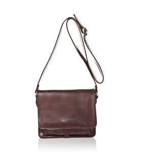 Čokoládovohnedá dámska kabelka z teľacej kože Medici of Florence Daniele