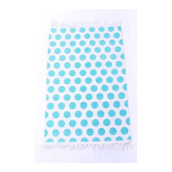 Koberec La Finesse Dots Blue, 60x90 cm