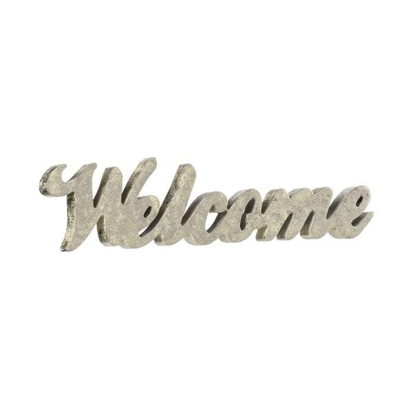 Dekoratívny nápis Welcome Silver