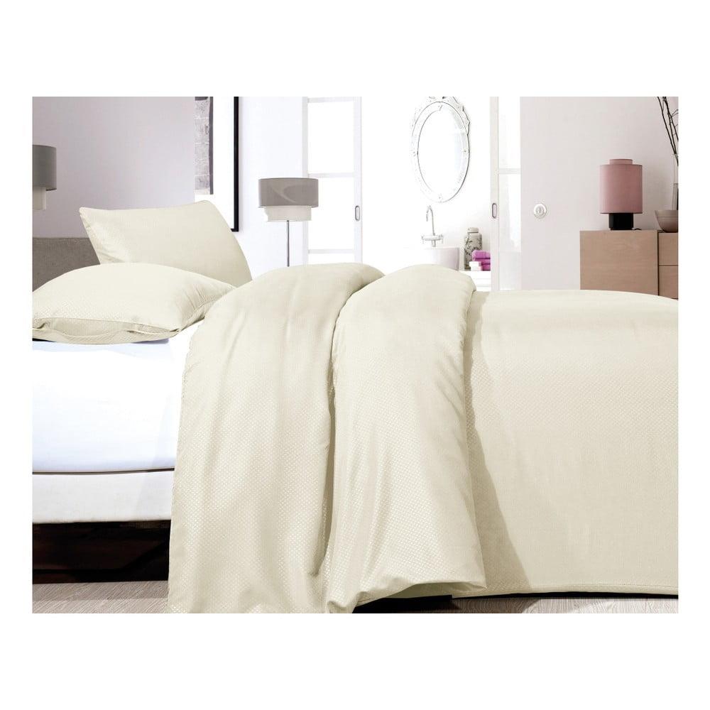 Krémové obliečky z mikroperkálu na jednolôžko Sleeptime Satin, 140 × 200 cm