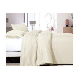 Krémovobiele obliečky z mikroperkálu na jednolôžko Sleeptime Satin, 140×200 cm