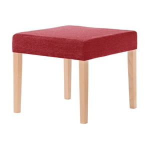 Červená stolička s hnedými nohami Ted Lapidus Maison Pétale