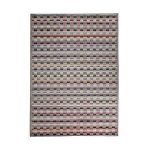 Sivý vysokoodolný koberec Floorita Optical Lento, 140 x 195 cm