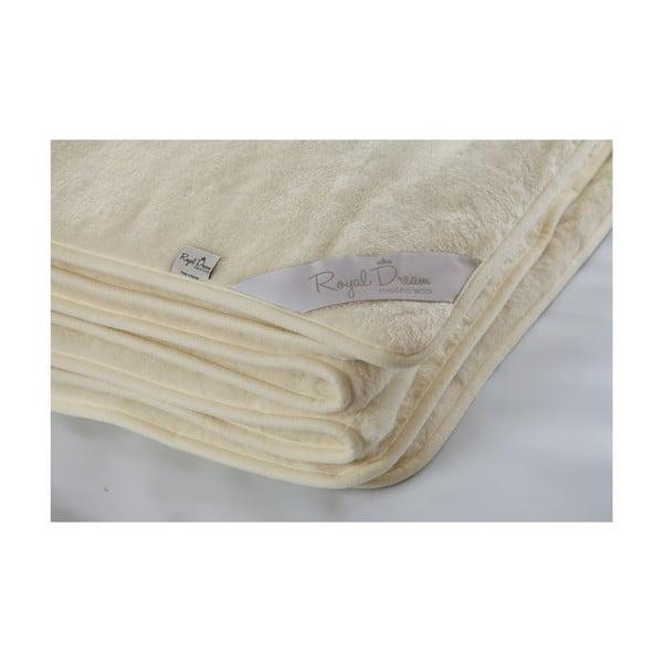Vlnená deka Royal Dream Cashmere, 200x200cm