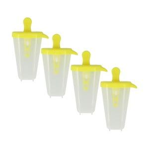 Sada 4 žltých foriem na zmrzlinu Metaltex Lollies
