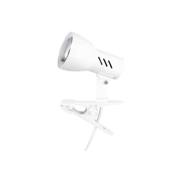 Biela stolová lampa na klips BRITOP Lighting Cspot White